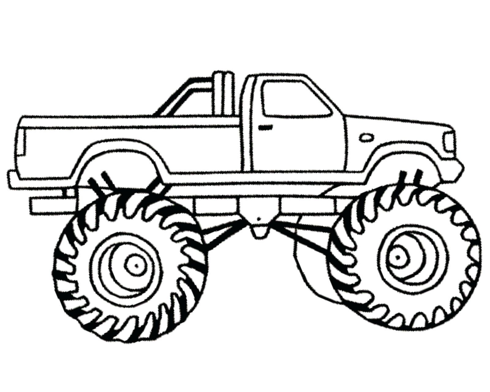 Simple Truck Drawing At Getdrawings