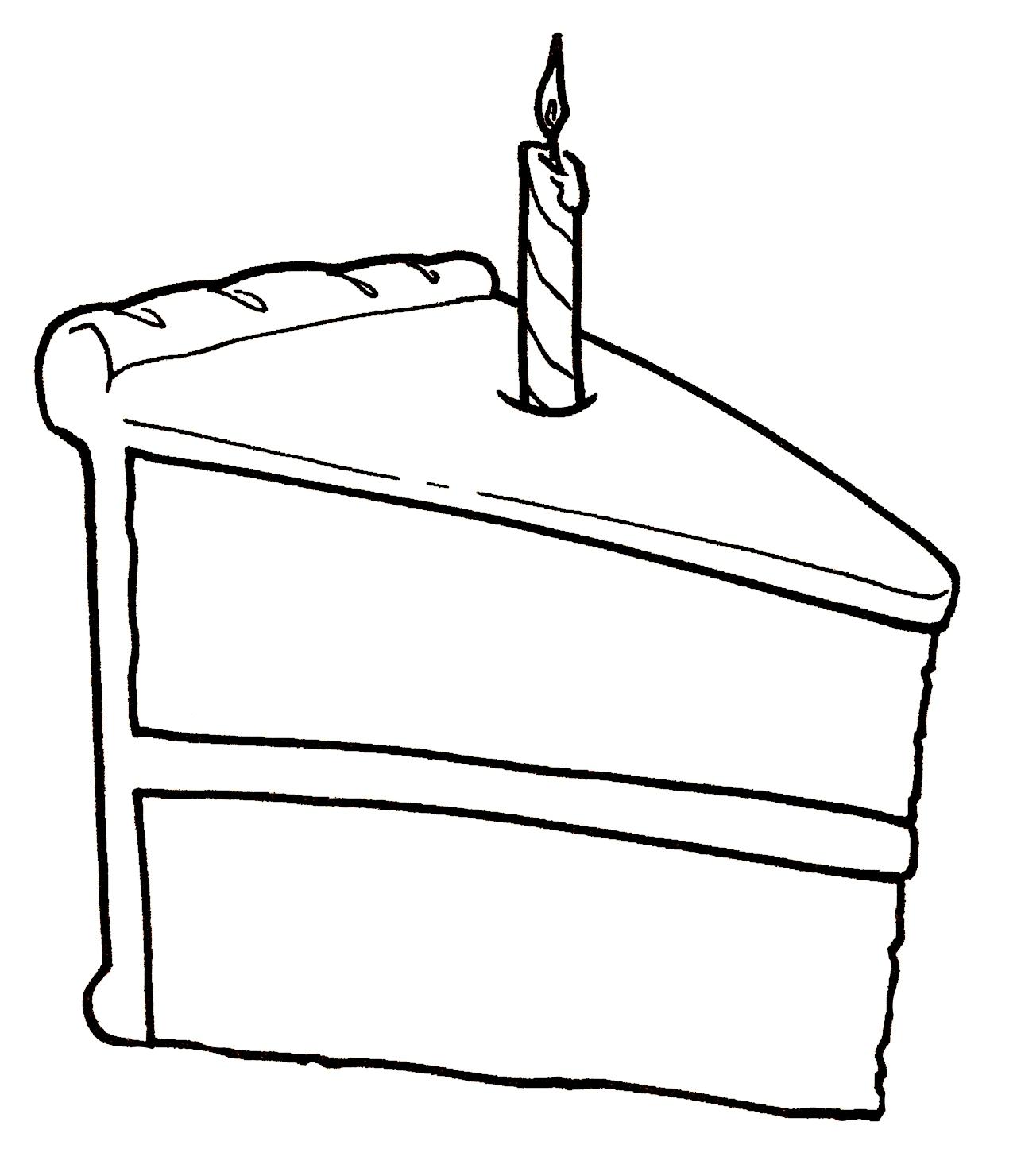 Slice Of Cake Drawing At Getdrawings