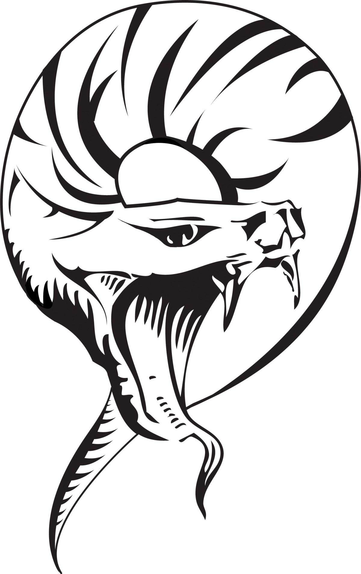 Snake Head Drawing at GetDrawings | Free download