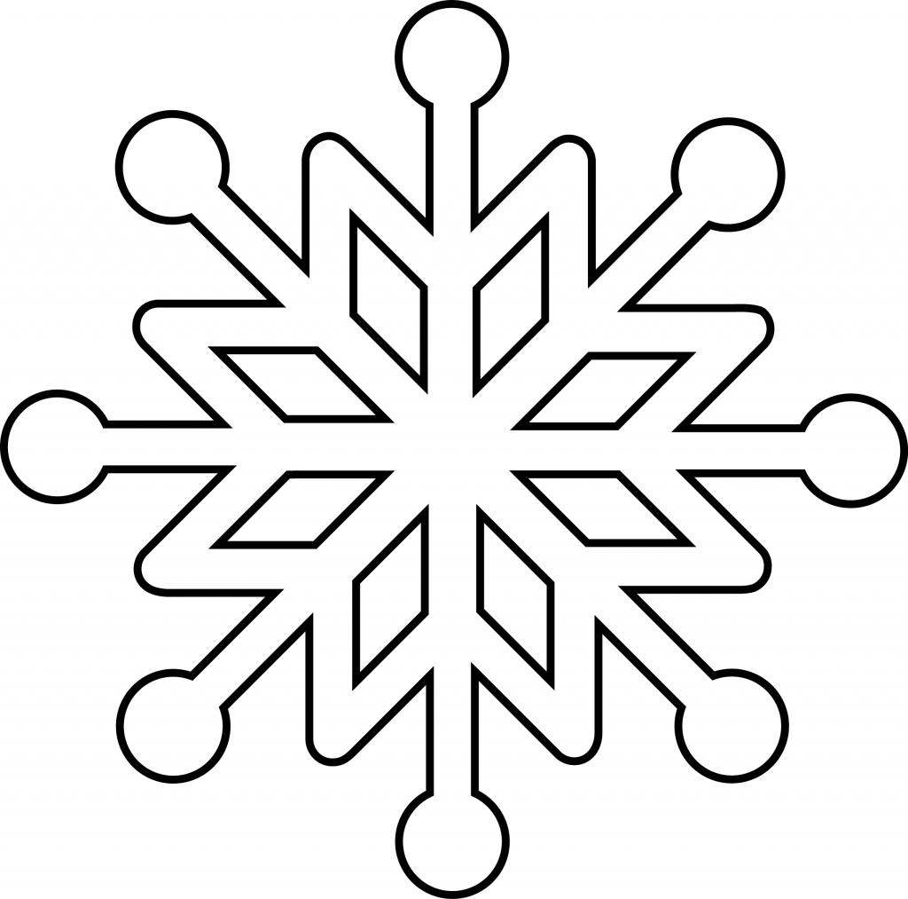 Snowflake Line Drawing At Getdrawings