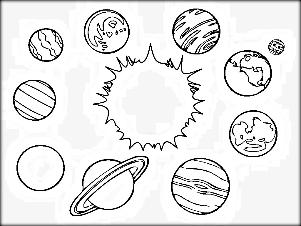 Solar System Drawing For Kids At Getdrawings
