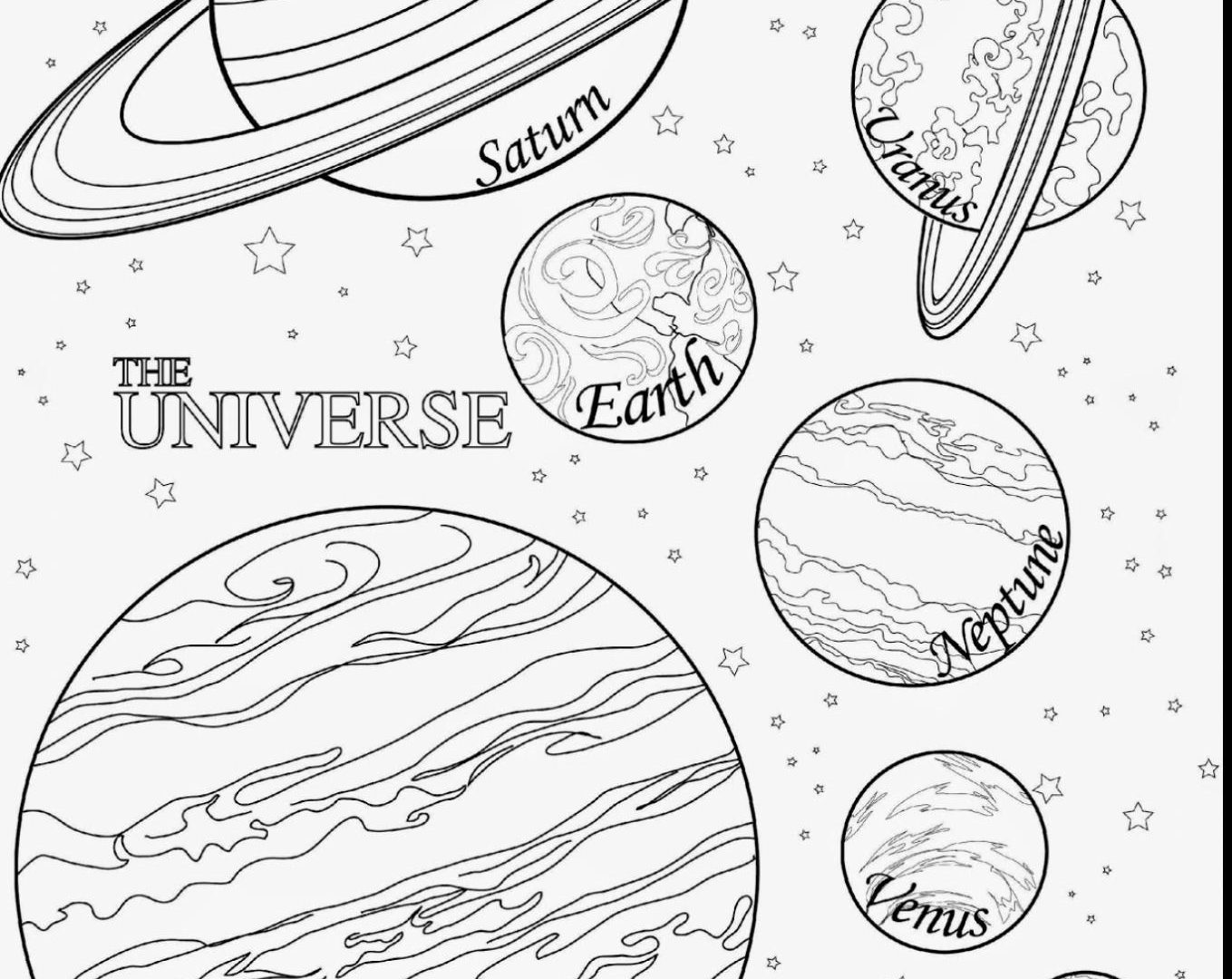 Solar System Planets Drawing At Getdrawings