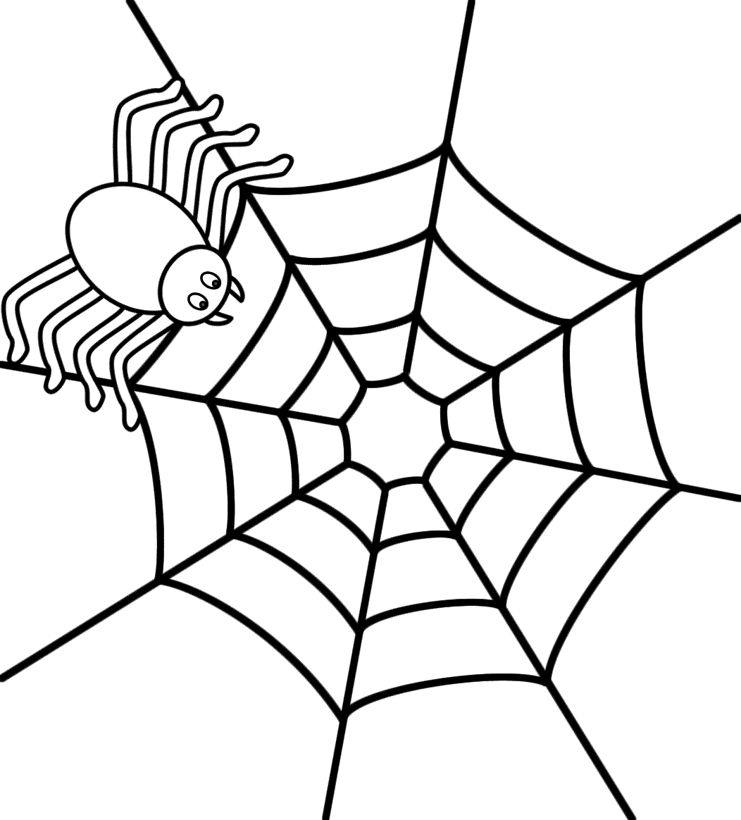 Spider Web Drawing Easy At Getdrawings