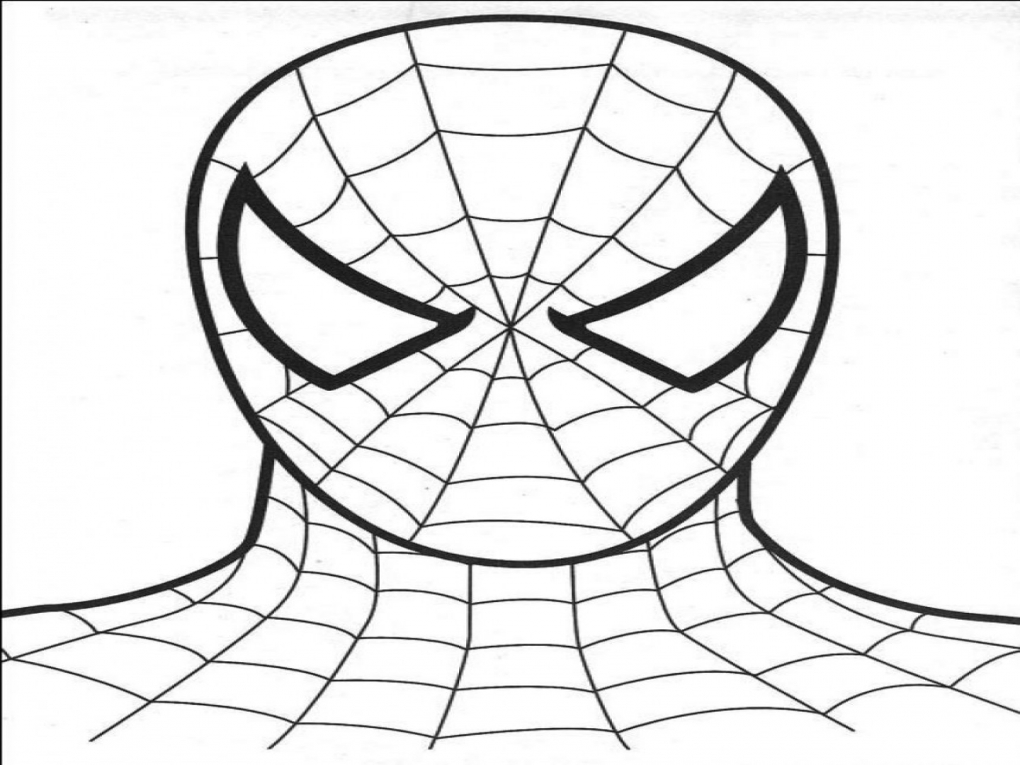 Spiderman Face Drawing At Getdrawings