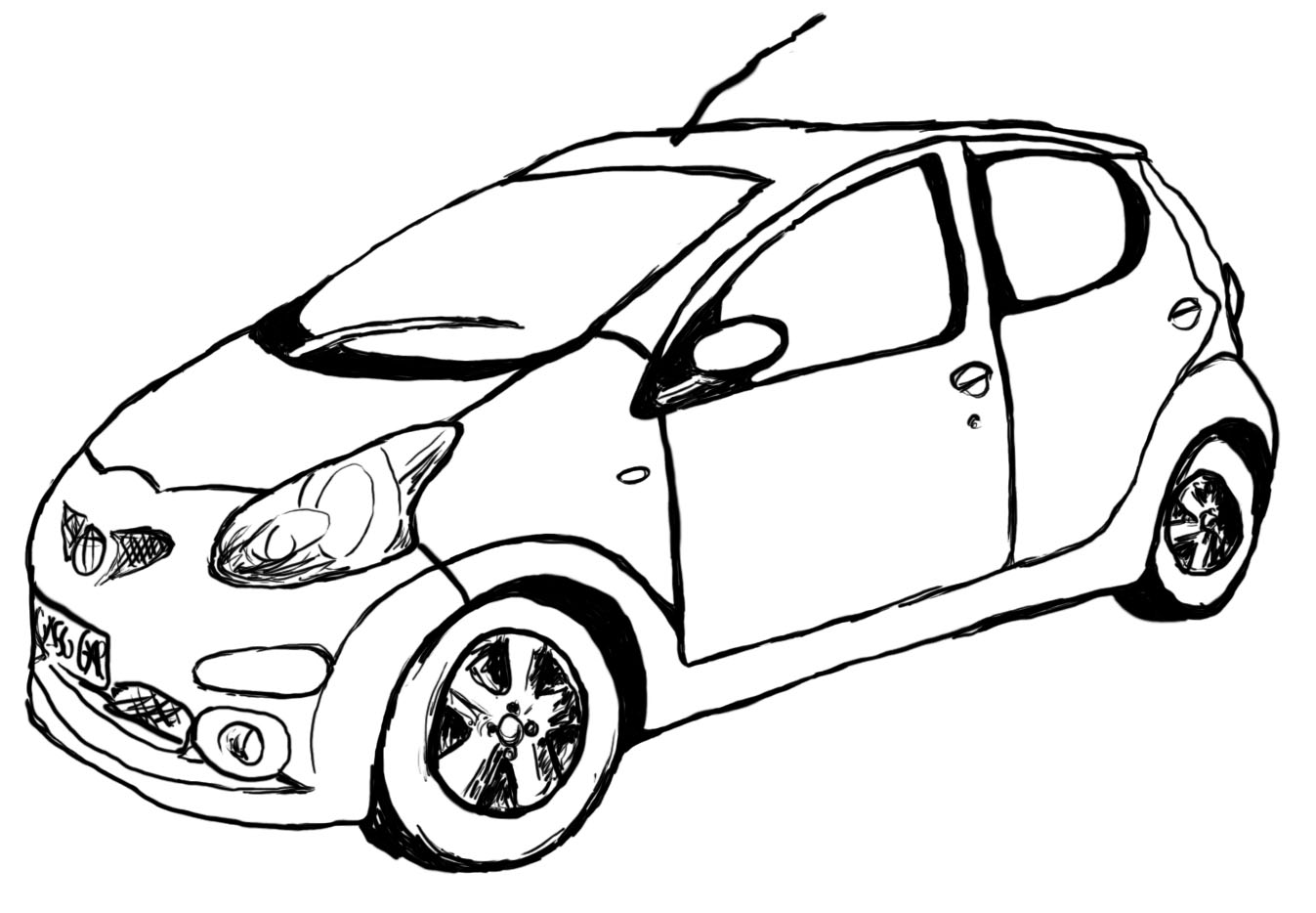 Sports Car Drawing Outline At Getdrawings
