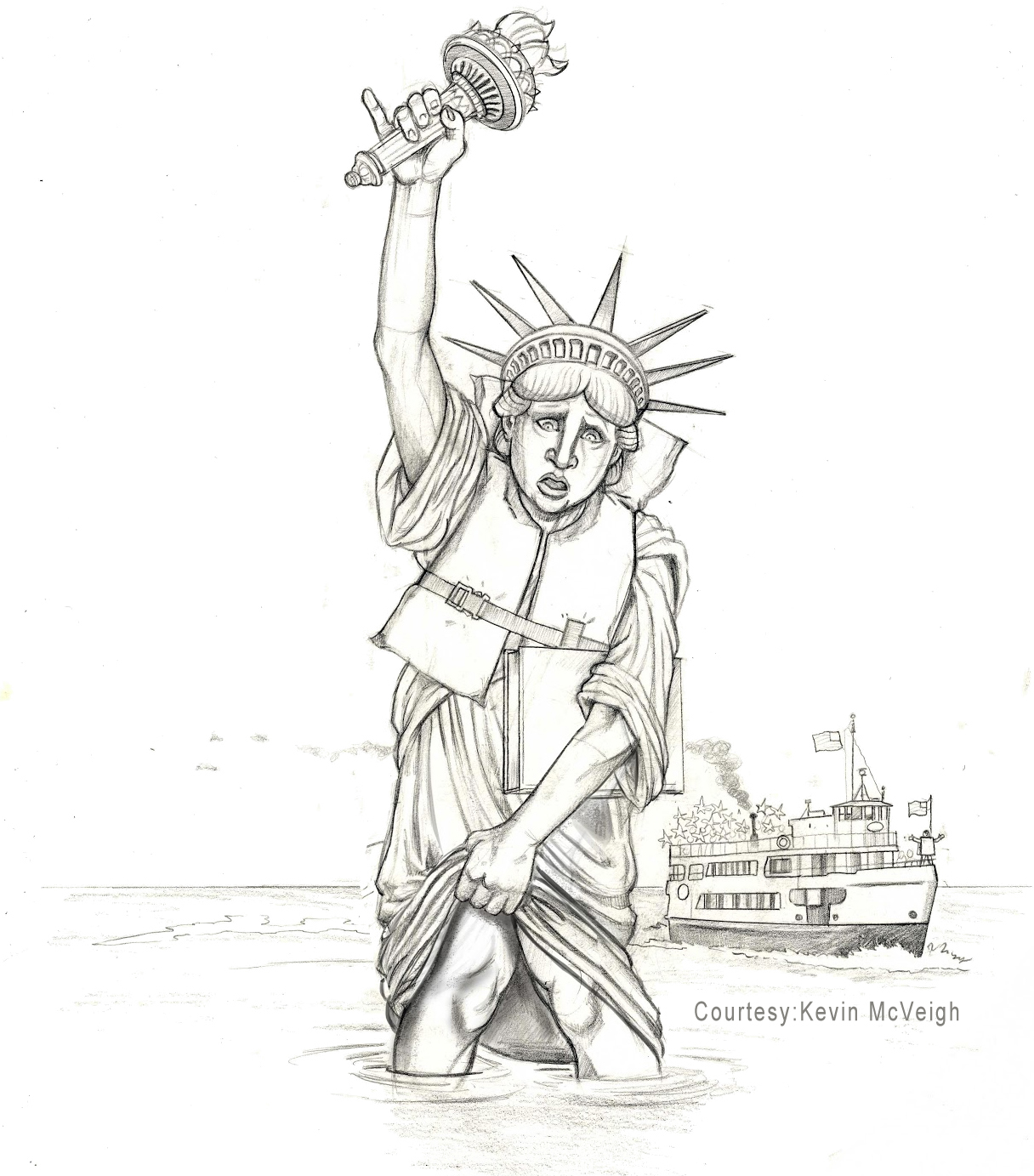 Statue Of Liberty Drawing Template At Getdrawings