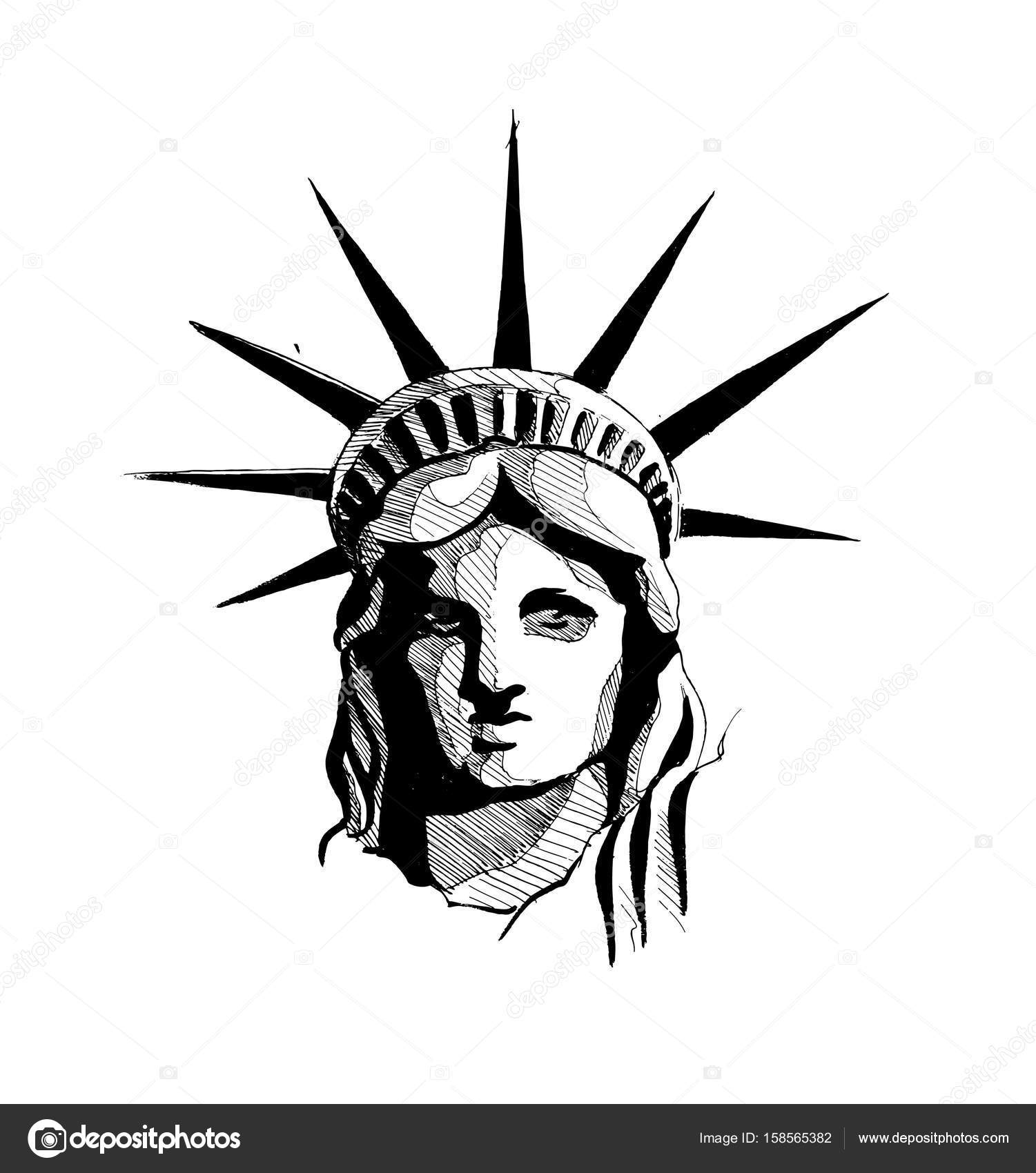 Statue Of Liberty Face Drawing At Getdrawings