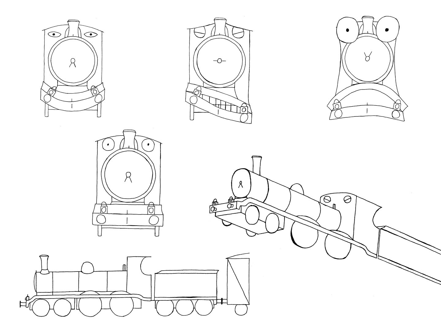 Steam Train Drawing Side View At Getdrawings