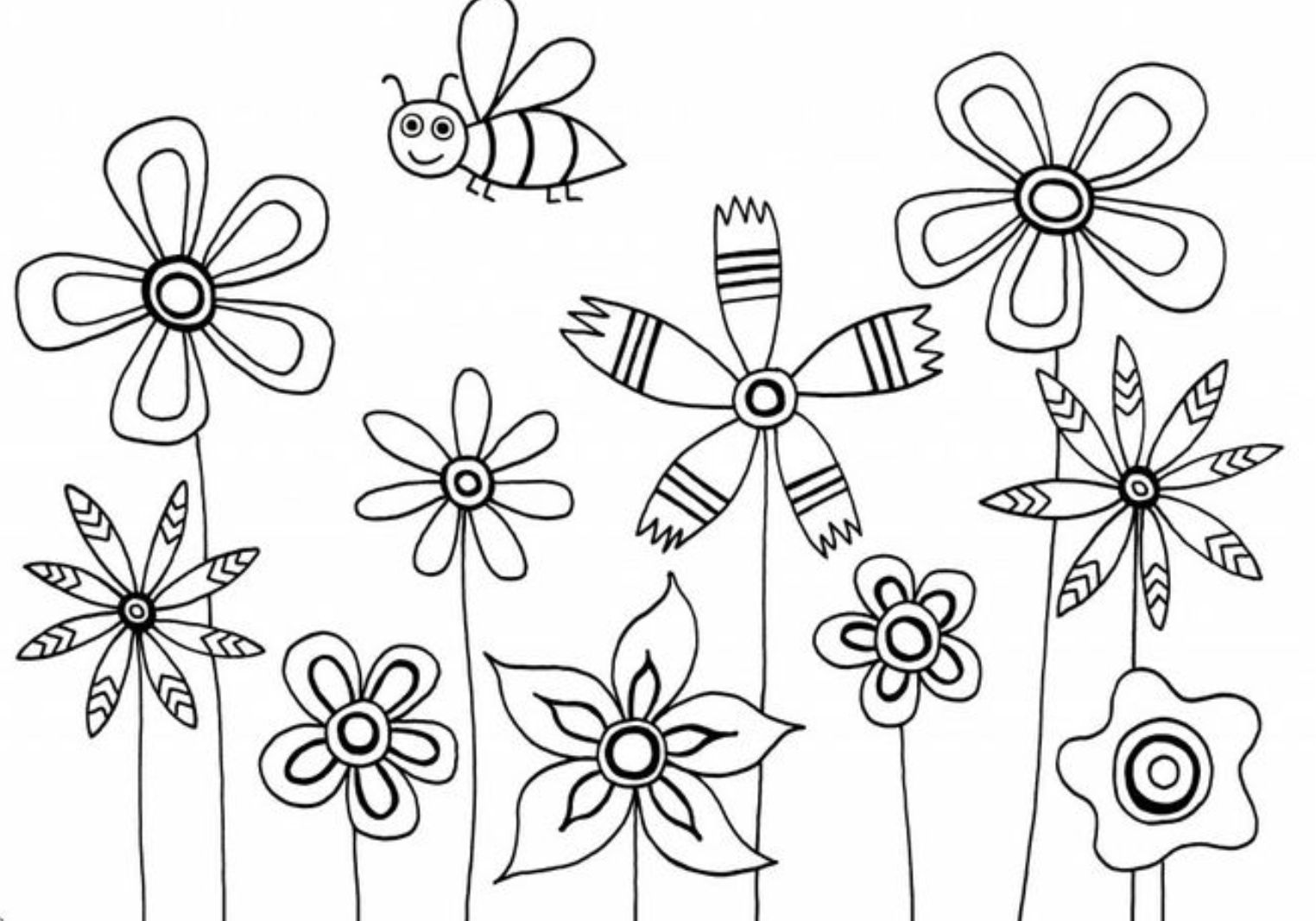 Step By Step Drawing Flowers For Kids At Getdrawings