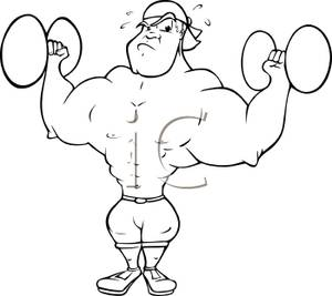 Image result for strong person black and white cartoon