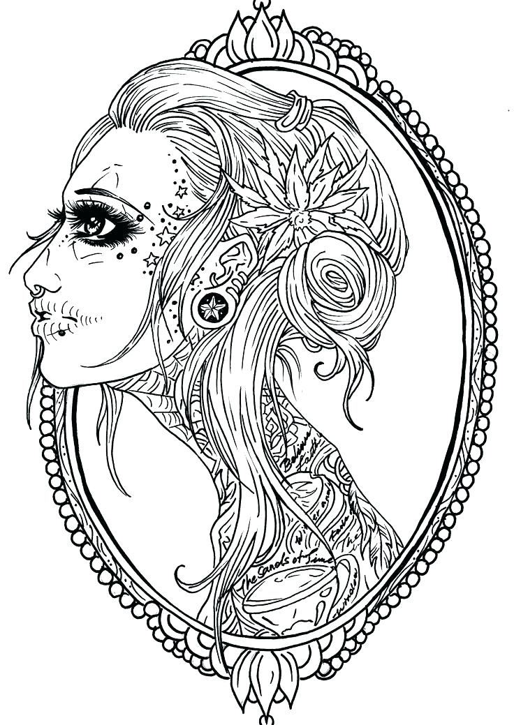 sugar skull pin up drawing at getdrawings  free download