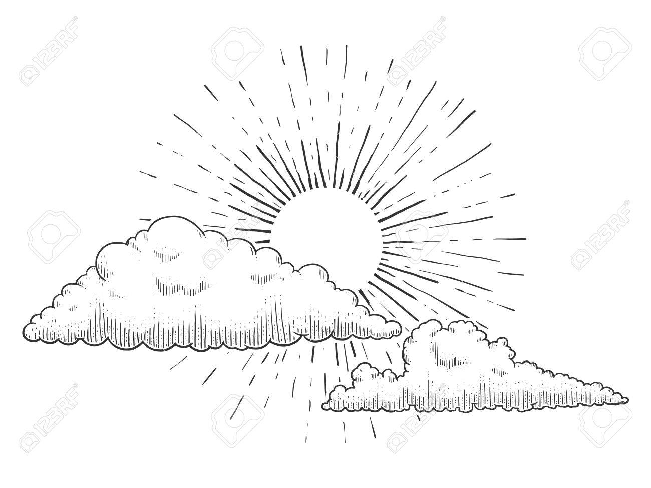 Sun And Clouds Drawing At Getdrawings