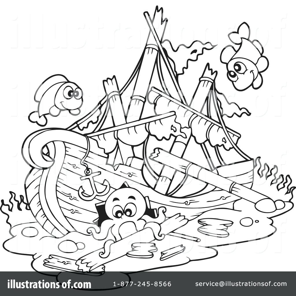 Sunken Ship Drawing At Getdrawings
