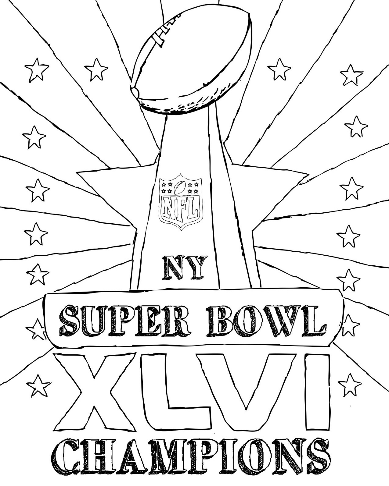Super Bowl Drawing At Getdrawings