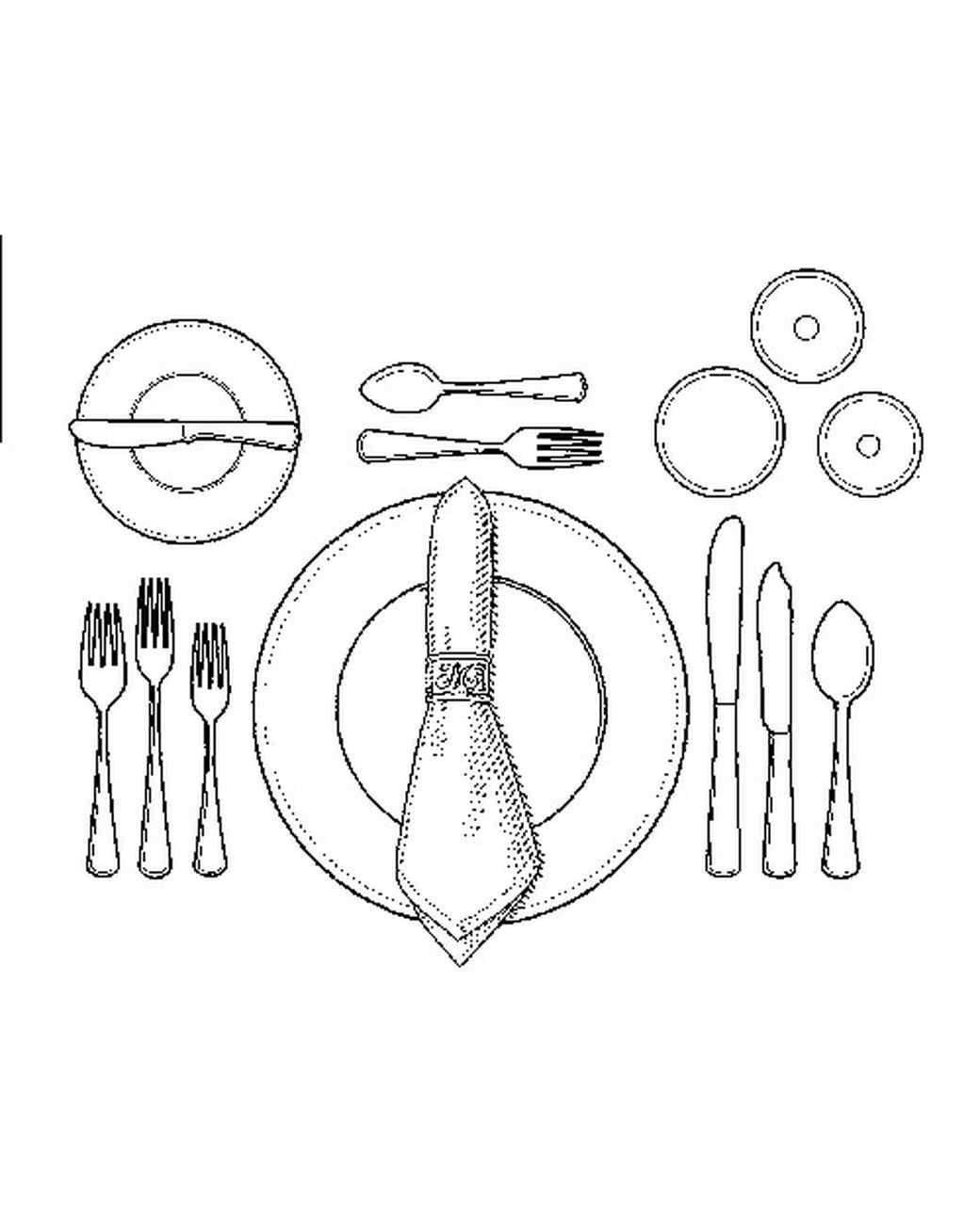 Table Setting Drawing At Getdrawings