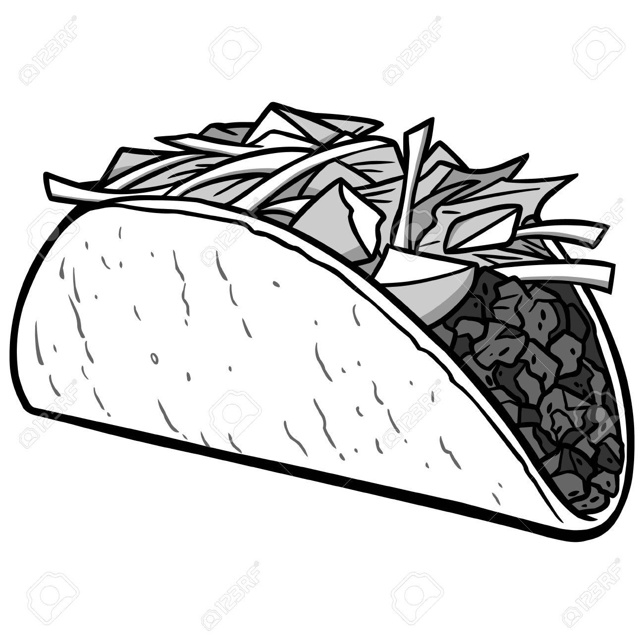 Taco Drawing At Getdrawings