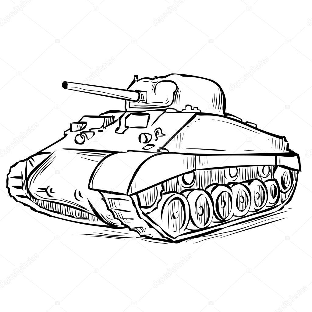 Tank Drawing At Getdrawings