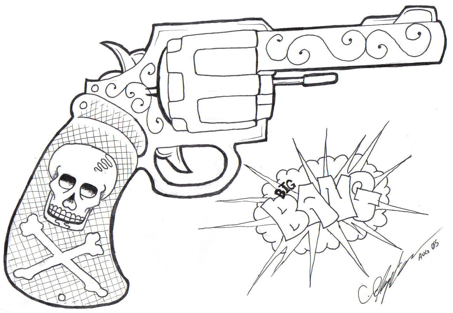 Tattoo Gun Drawing At Getdrawings