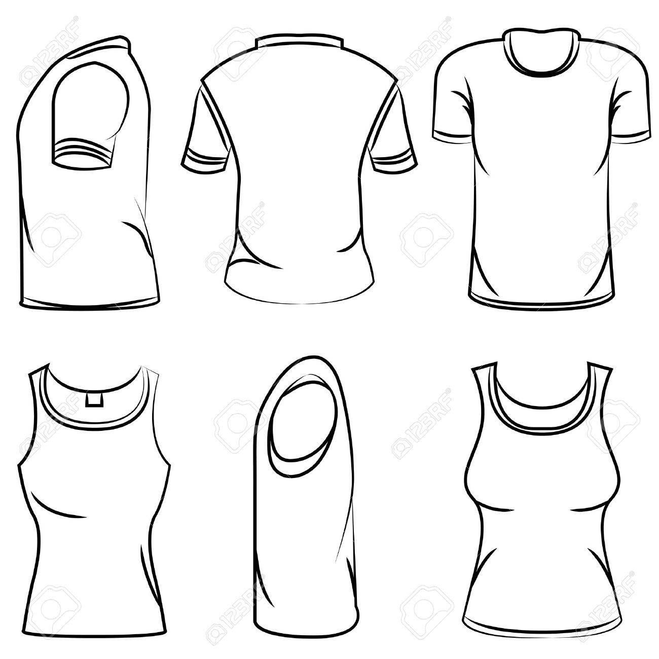 Tee Shirt Drawing At Getdrawings