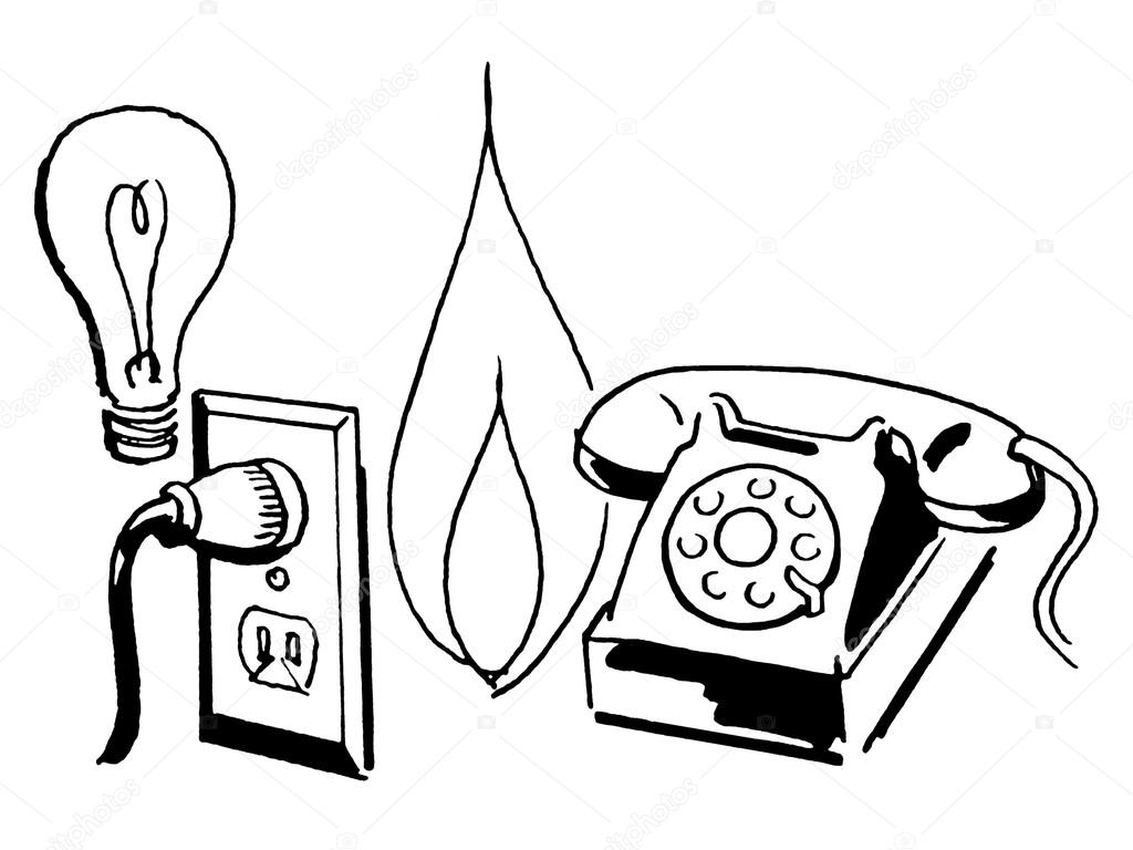 Telephone line drawing