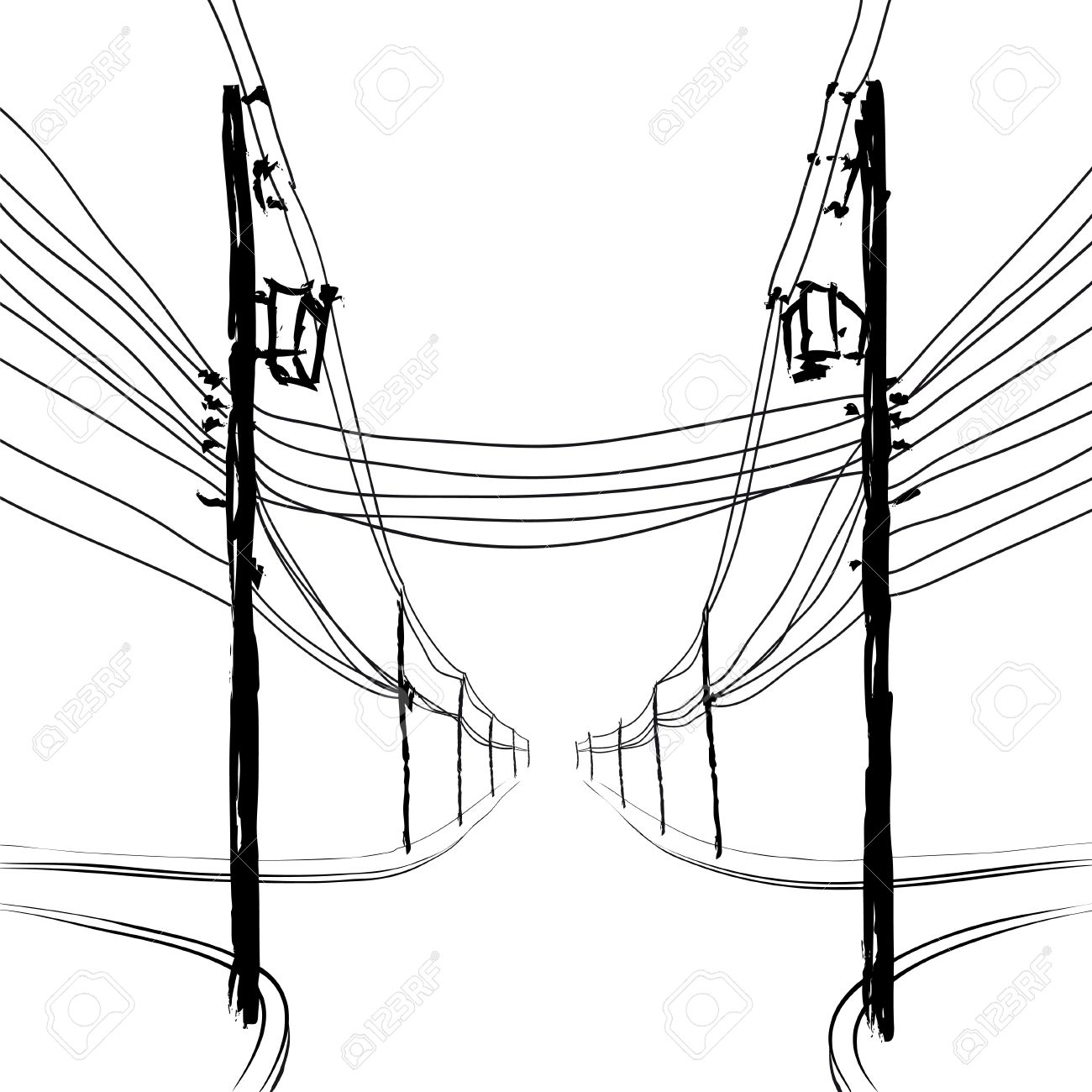 Telephone Pole Drawing At Getdrawings