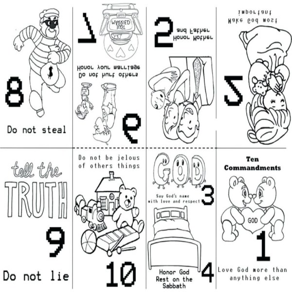 ten commandments coloring page # 20