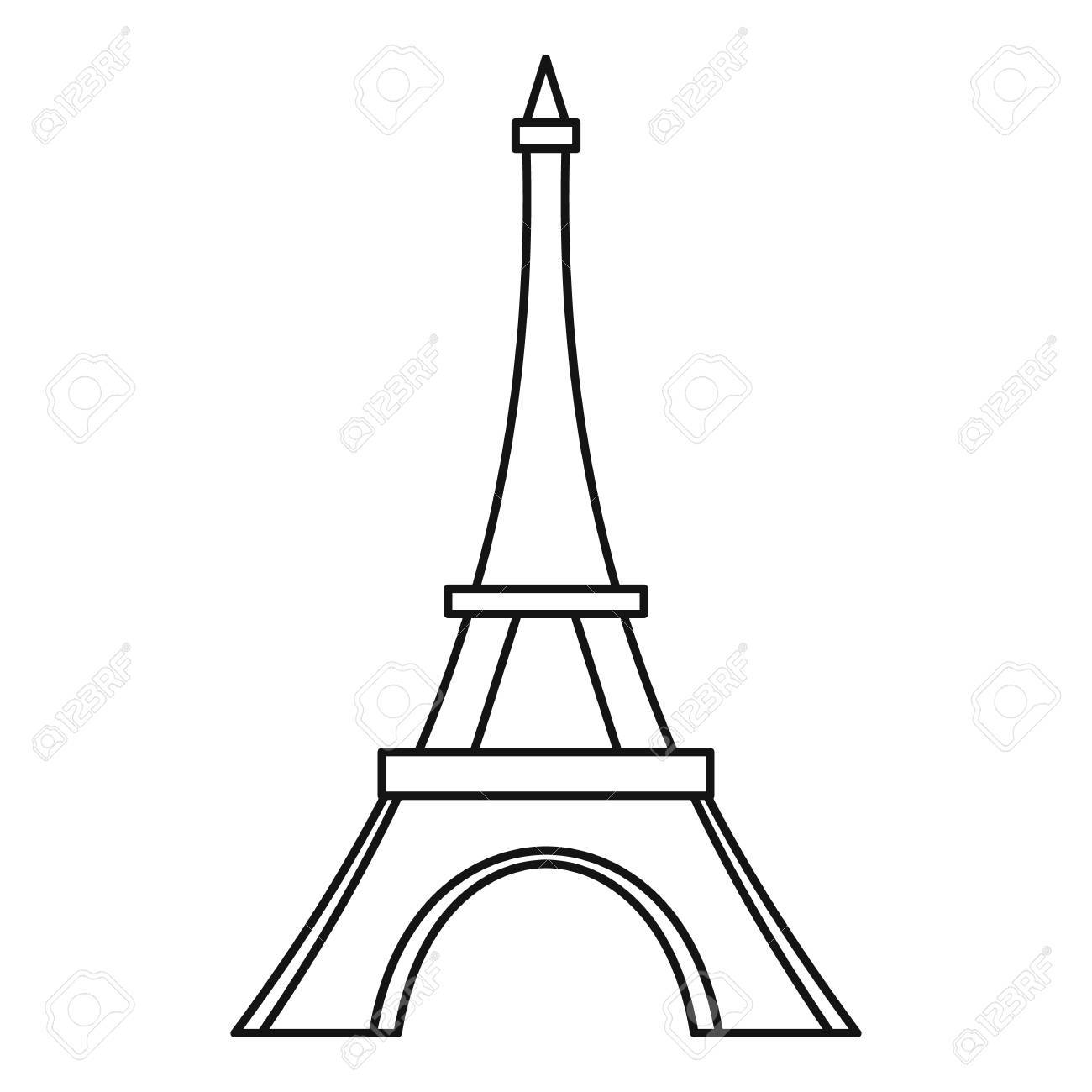 The Eiffel Tower Drawing At Getdrawings
