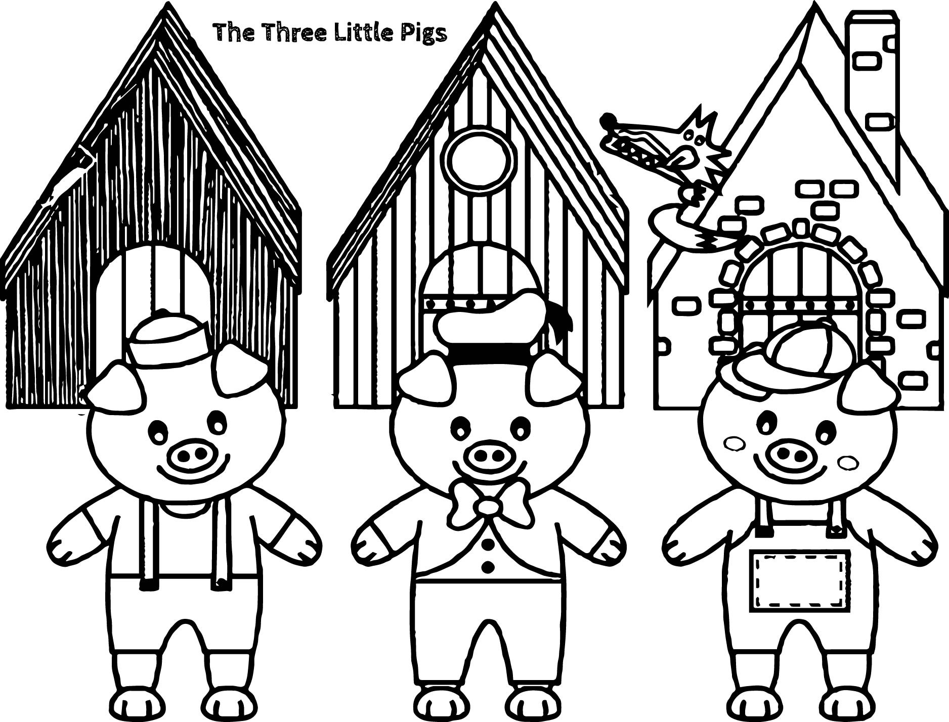 Three Little Pigs Drawing At Getdrawings
