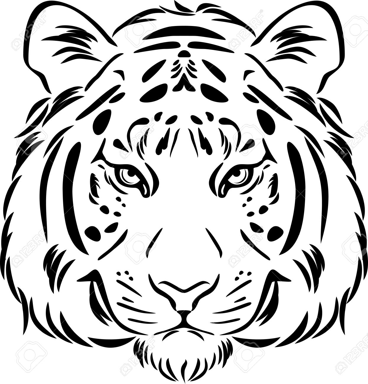 Tiger Outline Drawing At Getdrawings