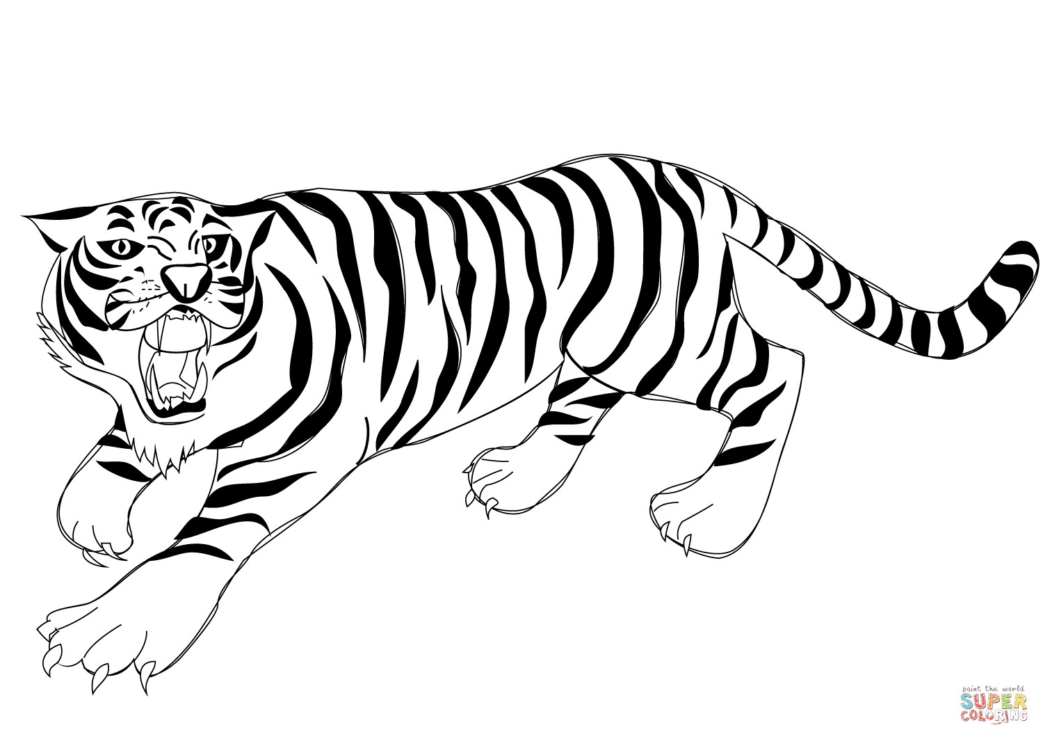 Tiger Roaring Drawing At Getdrawings