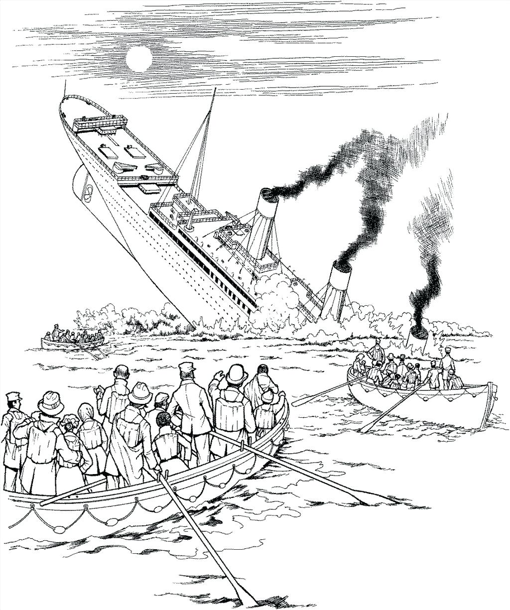 Titanic Sinking Drawing At Getdrawings