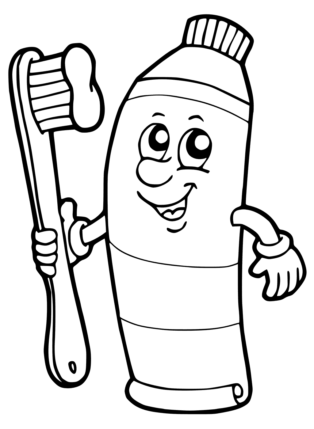 Toothbrush And Toothpaste Drawing At Getdrawings