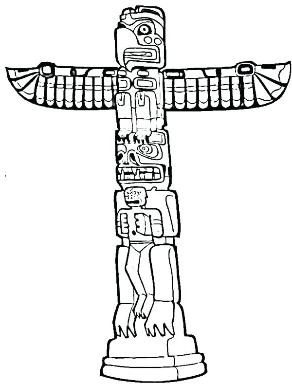 totem pole drawing at getdrawings  free download