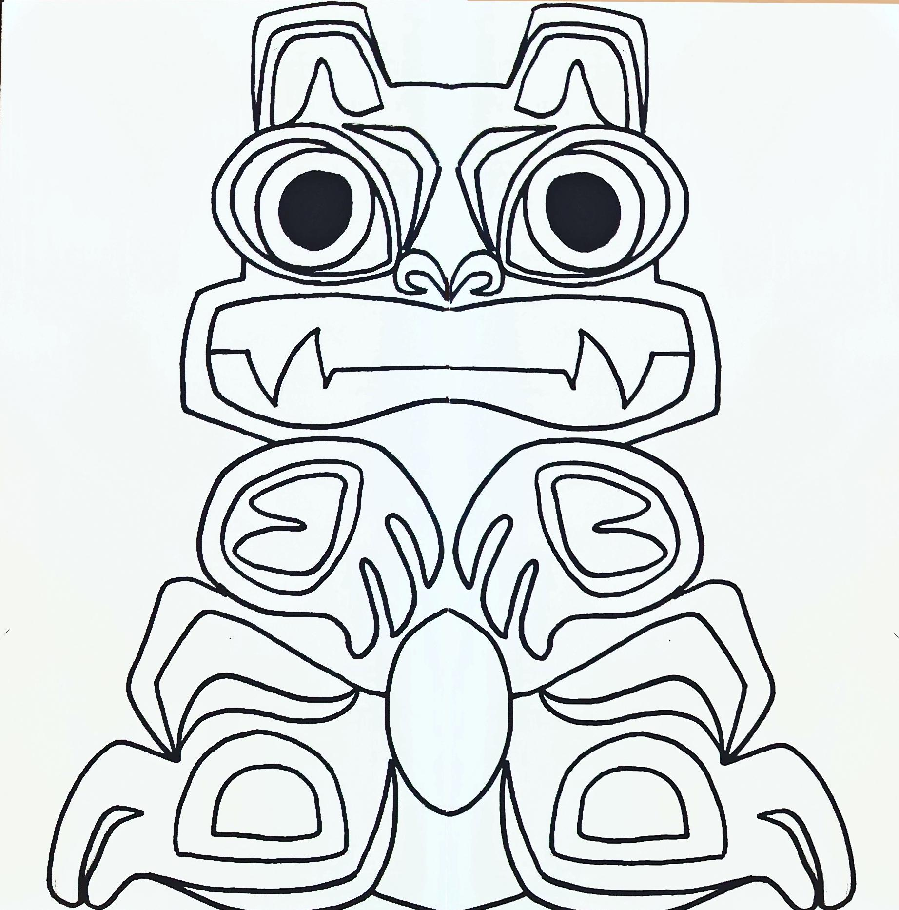 Totem Poles Drawing At Getdrawings