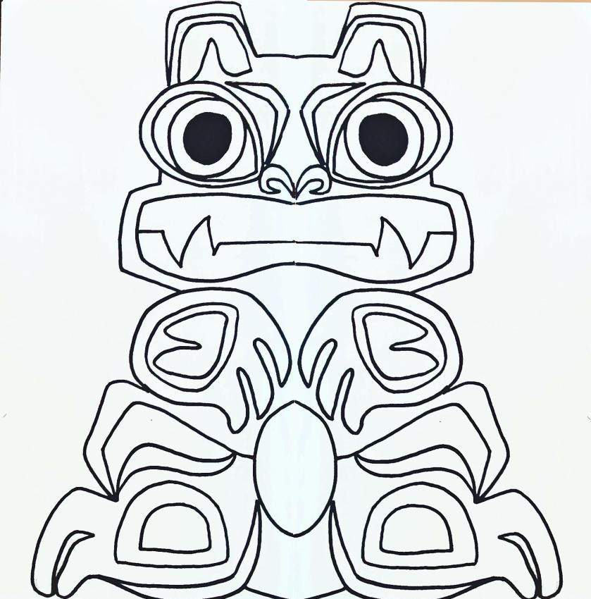 totem poles drawing at getdrawings  free download