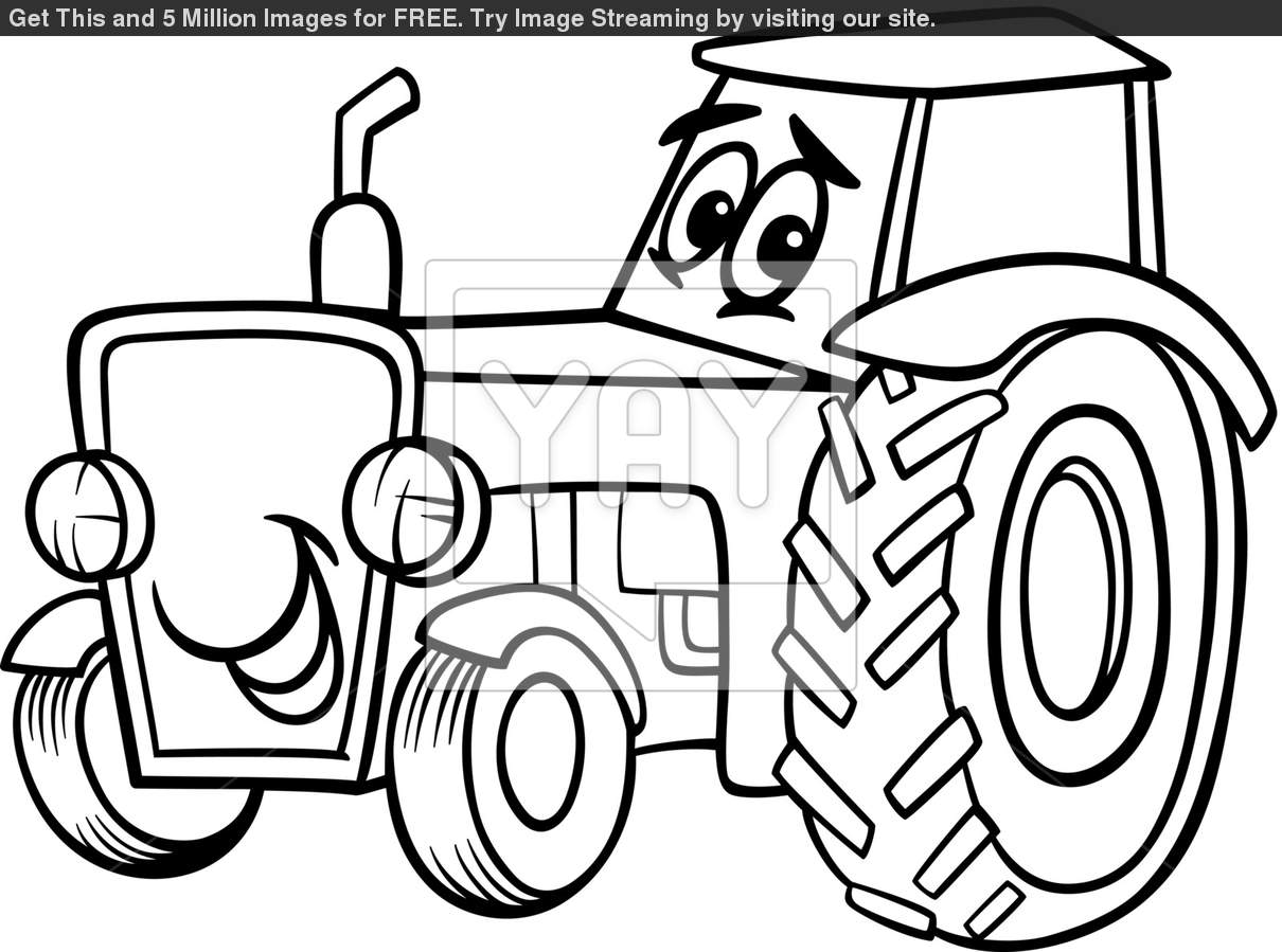 Tractor Outline Drawing At Getdrawings