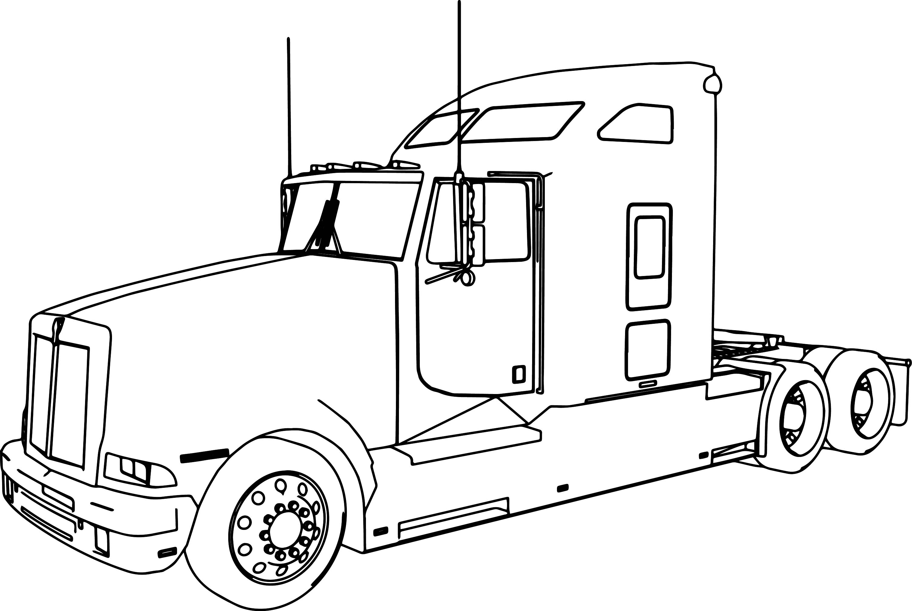 Tractor Trailer Drawing At Getdrawings