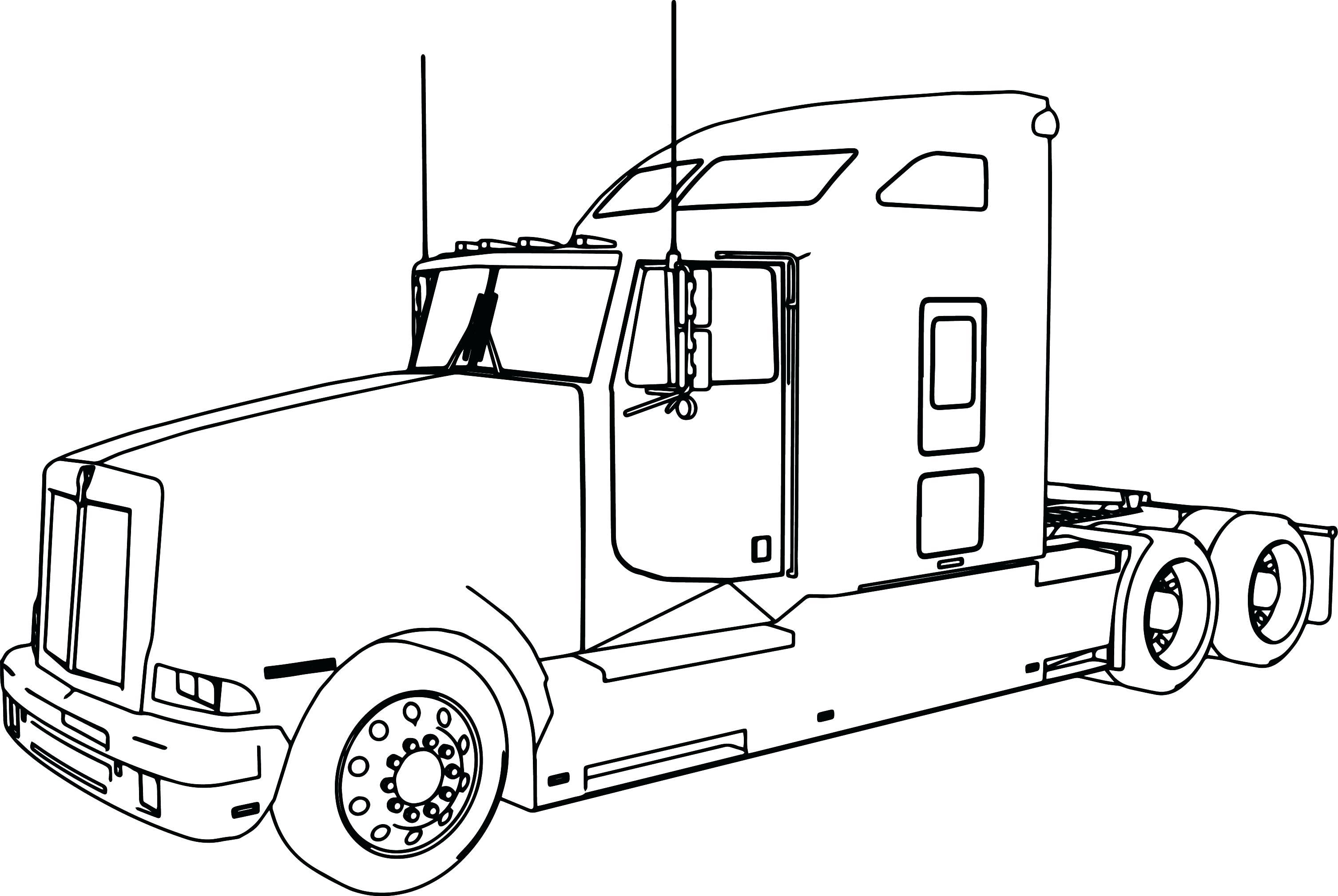 Truck Pulling Gooseneck Trailer Clip Art