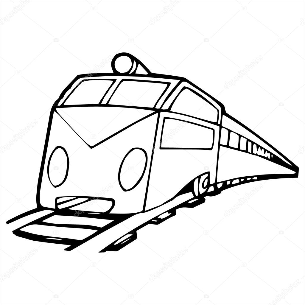 Train Cartoon Drawing At Getdrawings