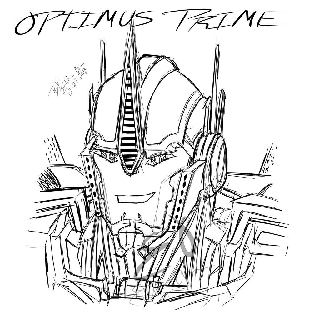 Transformer Optimus Prime Drawing At Getdrawings