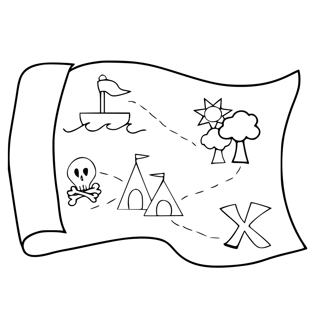 Treasure Map Drawing At Getdrawings