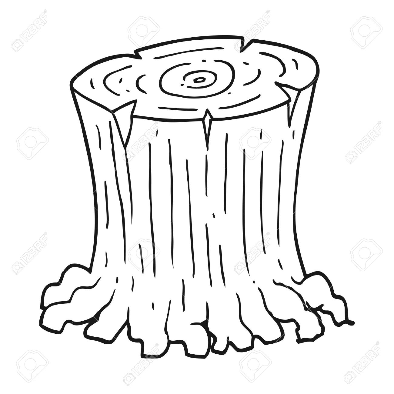 Tree Stump Drawing At Getdrawings