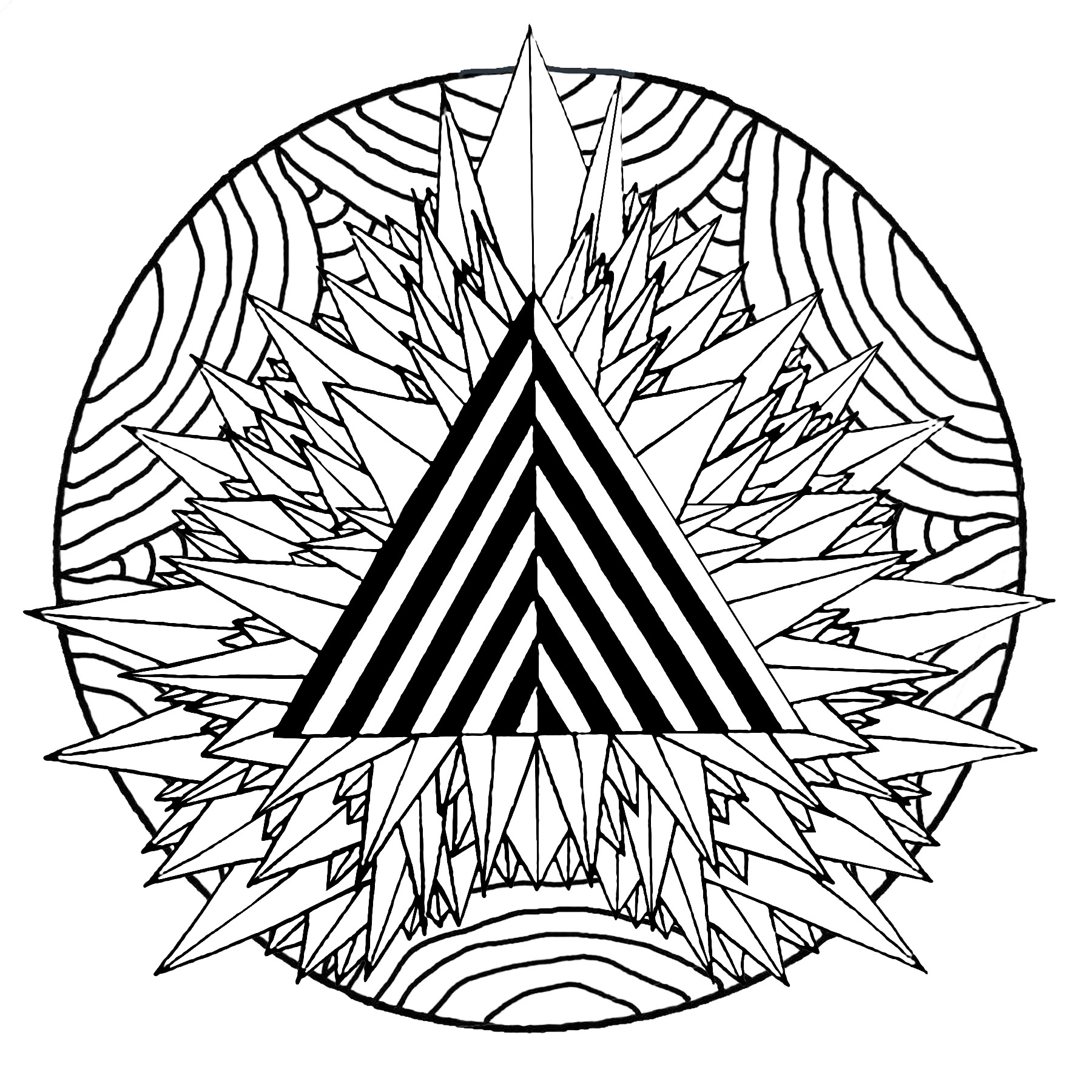 Triangles Drawing At Getdrawings