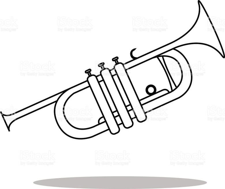 trumpet drawing at getdrawings | free for personal use trumpet