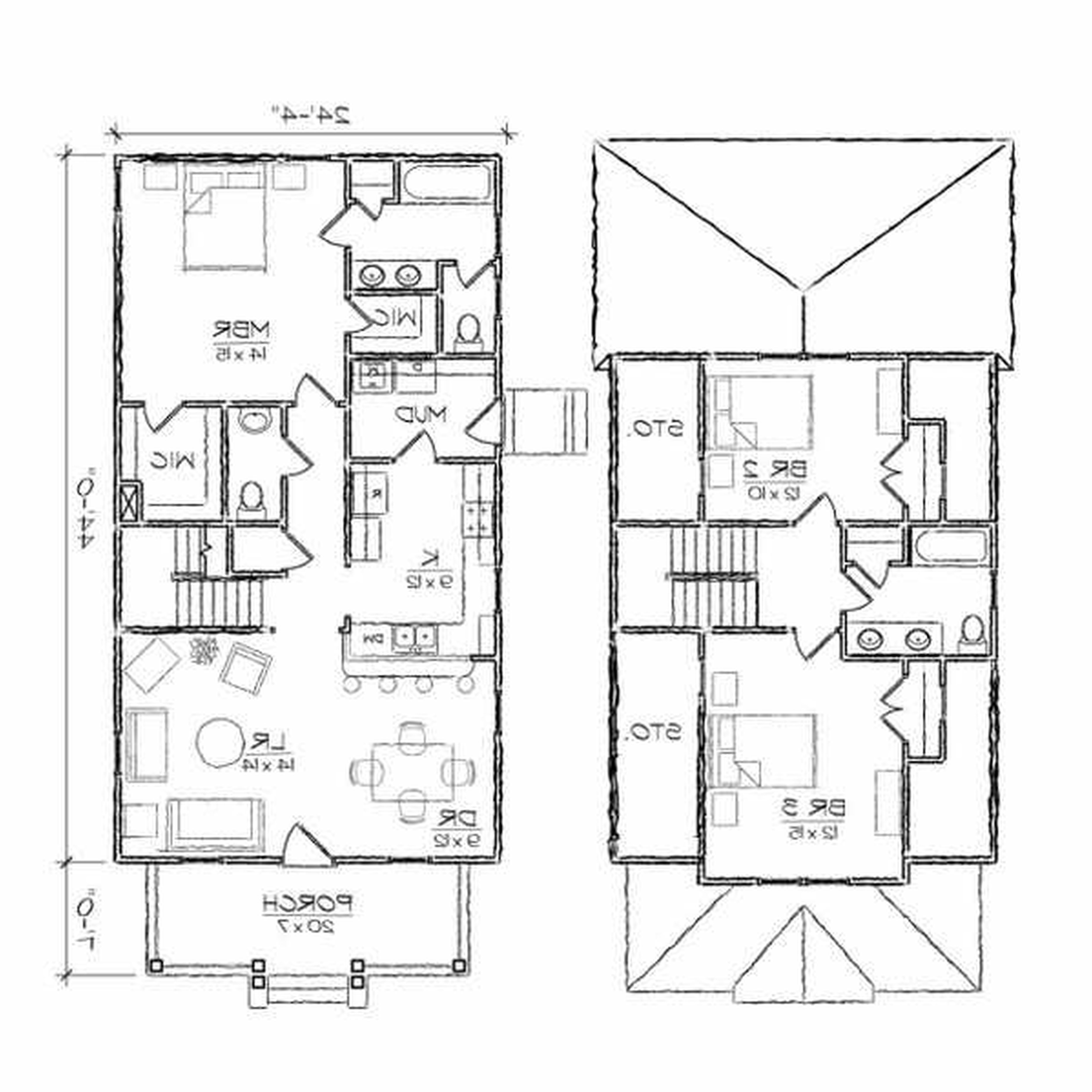 Two Story House Drawing At Getdrawings