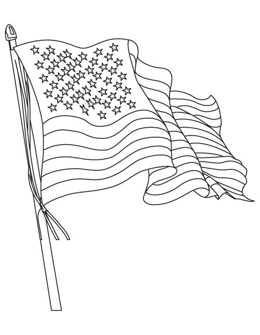 Us Flag Drawing At Getdrawings