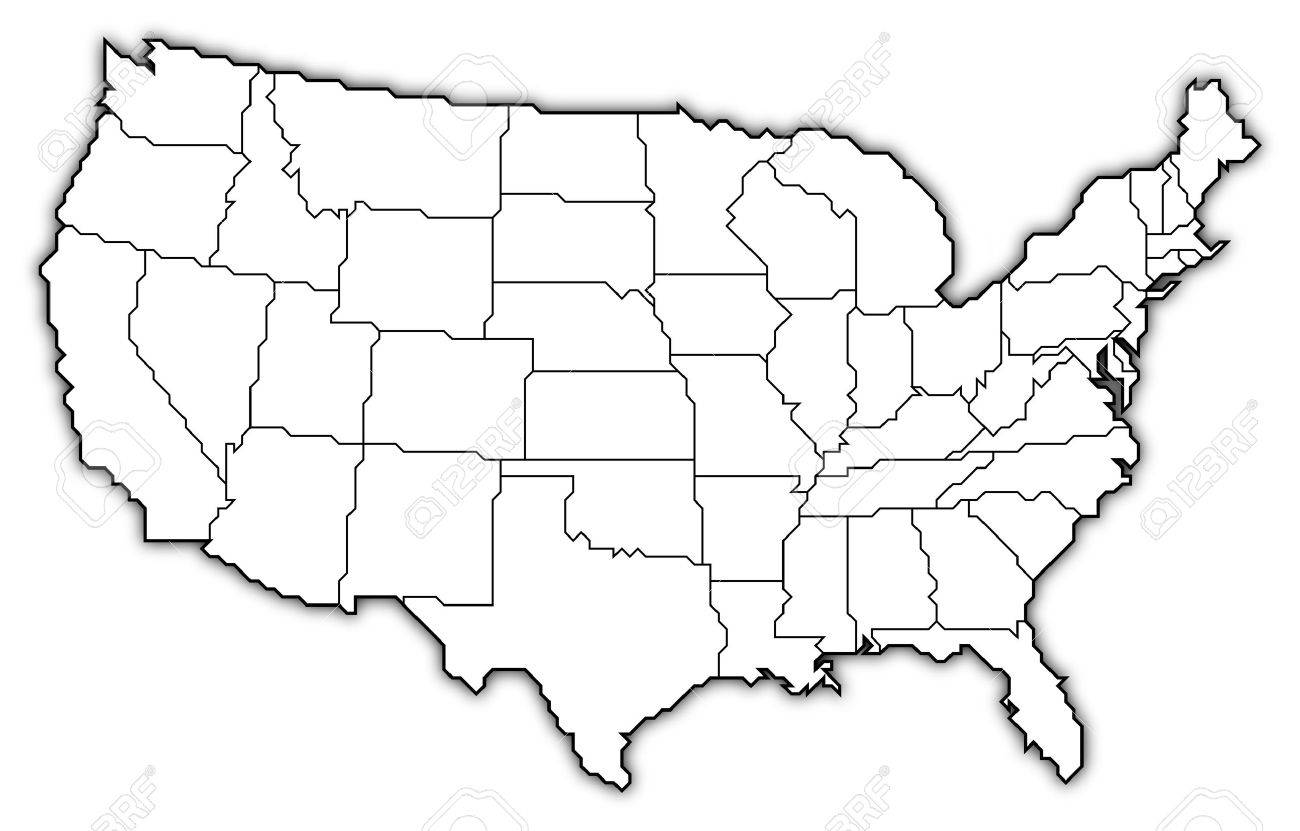 Us Map Line Drawing At Getdrawings