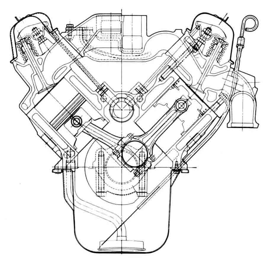 V8 engine drawing at getdrawings free for personal use v8