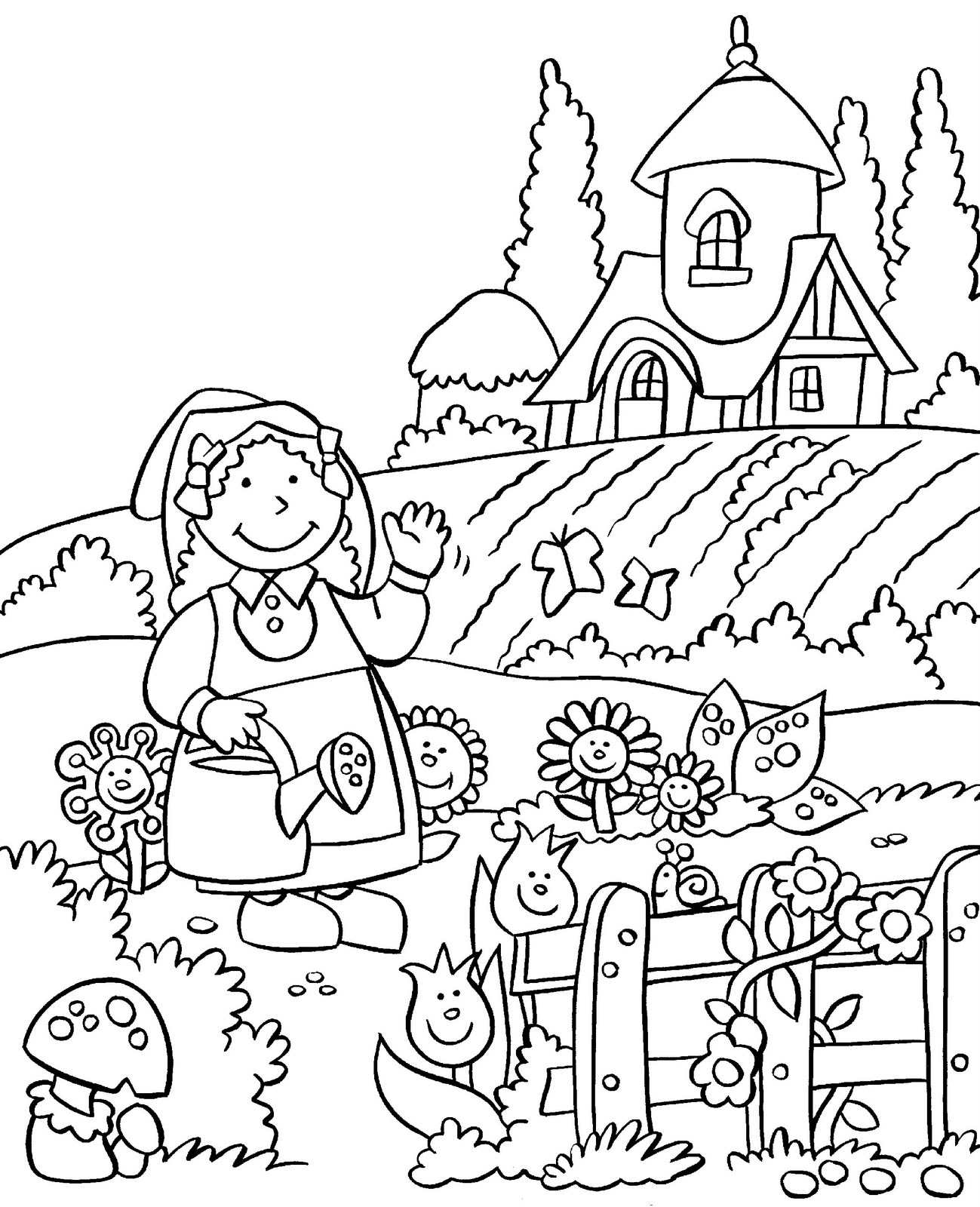 Vegetable Garden Drawing At Getdrawings