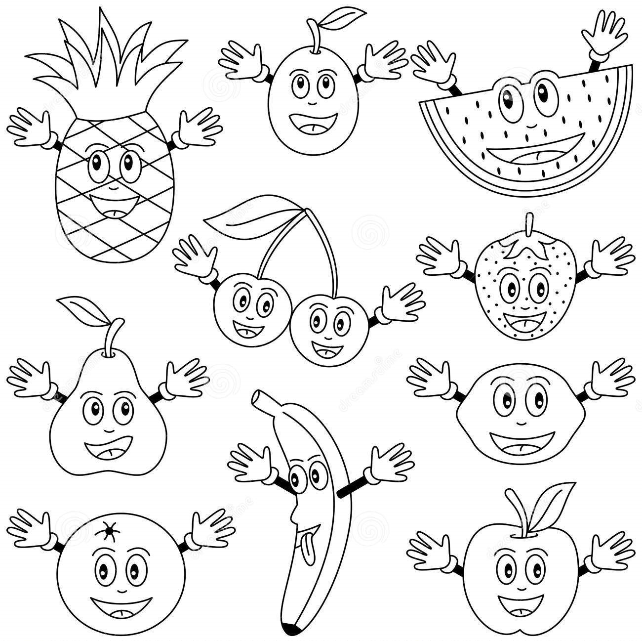 Vegetables And Fruits Drawing At Getdrawings